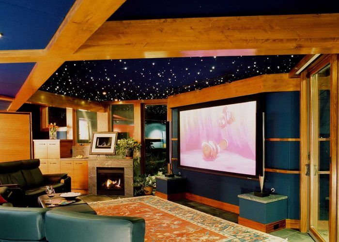 Home Theater With Starlight Ceiling